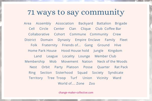71 ways to say community
