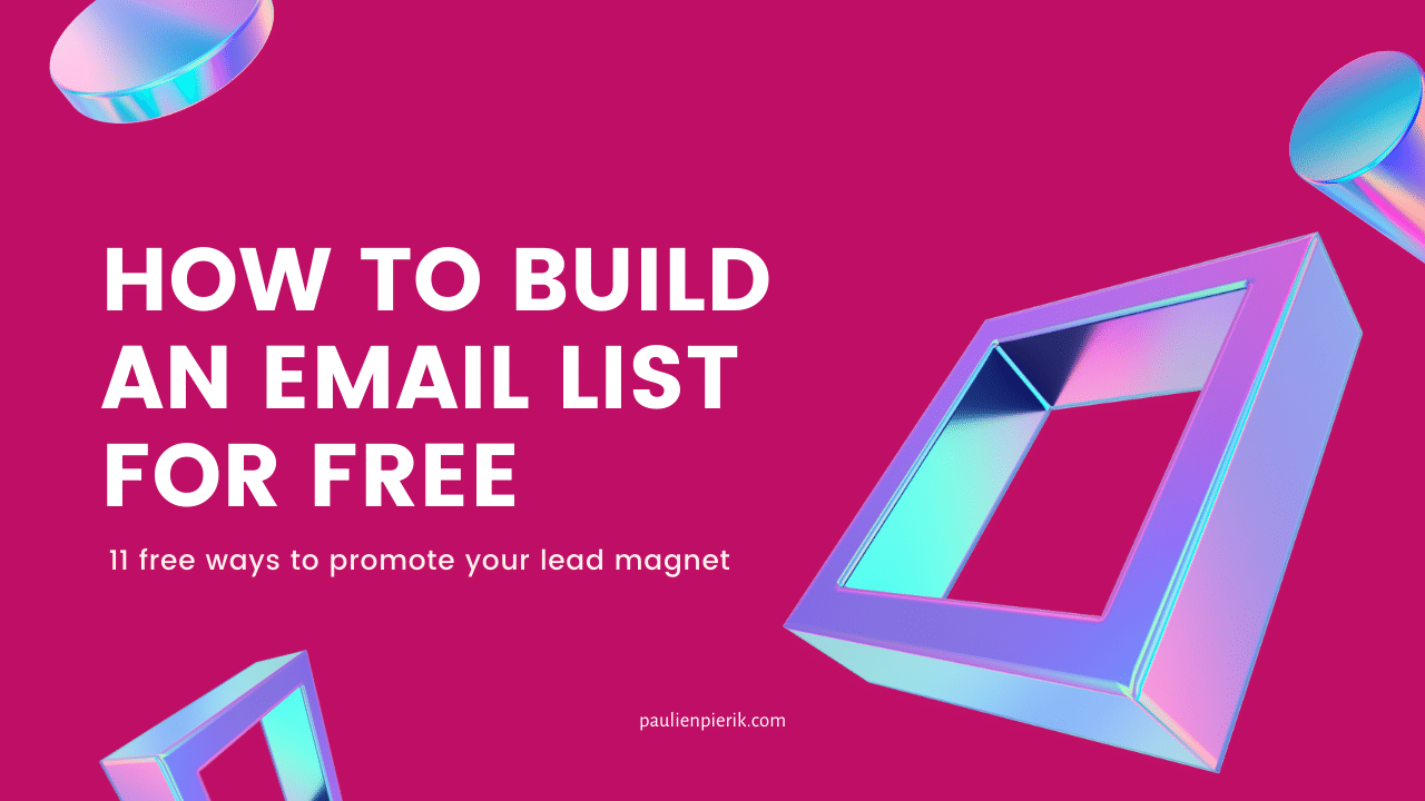 How to build an email list for free
