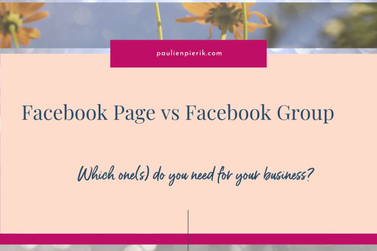 Facebook Group or Page? Which one do you need and why?