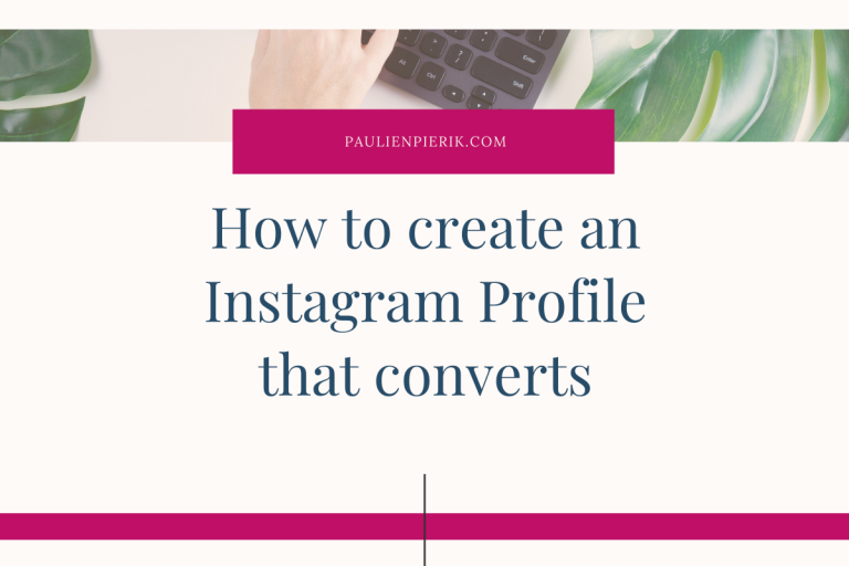 The perfect Instagram Profile – give your profile a makeover